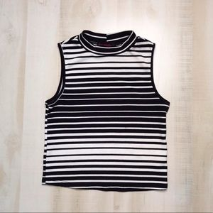 Tight Striped Crop Top Size S